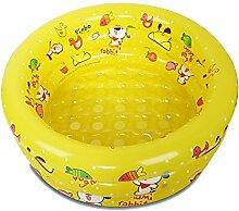 TD Aufblasbarer Pool Babyschwimmbecken Babybadewanne Wave Pool Marine Ball Pool (Farbe : Gelb)