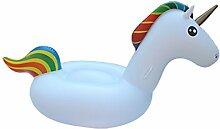 TD Aufblasbares Wasser Schwimmende Reihe Schwimmende Bett Wasser Flamingo Swan Mounts (Größe : Unicorn 270*130*115CM)