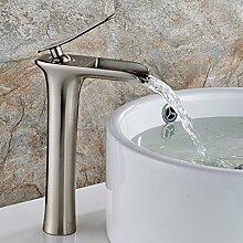 TD Badezimmer Hoch Gebürsteter Nickel Wasserfall