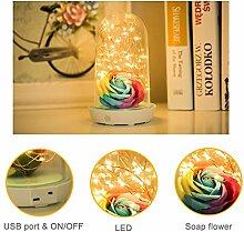 TDC Nachtlicht Rose und LED-Streifen Licht mit PVC