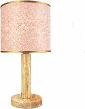 TDNGTP Flachs Lampenschirm Holz Tischlampe Morden