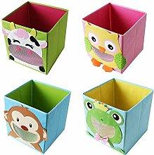 TE-Trend 4 Stück Textil Faltbox Spielbox