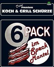 TE Trend Grill-/Kochschürze Spruch 6-er Pack im Speckmantel, schwarz