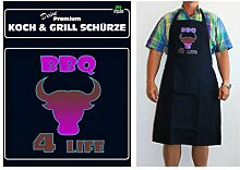 TE Trend Grill-/Kochschürze Spruch Barbeque 4 Life, schwarz