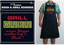 TE Trend Grill-/Kochschürze Spruch Grill Guru, schwarz