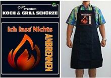 TE Trend Grill-/Kochschürze Spruch ich lass' Nichts anbrennen, schwarz