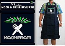 TE Trend Grill-/Kochschürze Spruch Kochprofi, schwarz