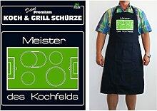 TE Trend Grill-/Kochschürze Spruch Meister des Kochfelds, schwarz