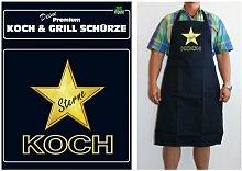 TE Trend Grill-/Kochschürze Spruch Sterne Koch, schwarz