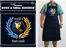 TE Trend Grill-/Kochschürze Spruch world's best cook, schwarz