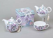 Tea for one 'Fahrrad', 500 ml, lila