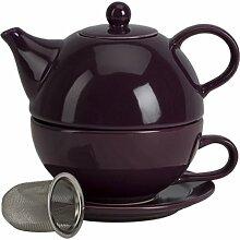Tea for one mit-Ei aubergine