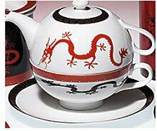 Tea-for-one-Set Magic Dragon Porzellan Kanne Tasse