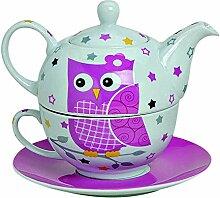 Kanne /& Tasse /& Untertasse Tea for One Set mit Magnolien