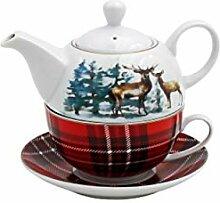 Tea-for-One Teekanne mit Tasse Porzellan 300ml