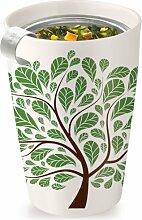 Tea forté 3910239 Kati Cup Green Leaves Keramikbecher