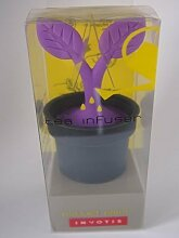 Tea Infuser Teesieb Teezubereiter Tee Filter Pflanze schwarz lila