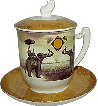 Tea Logic Kräutertee Tasse Sepia Elefant 380ml