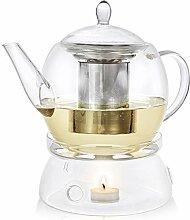 Teabloom Classic Glas Teekanne & Stövchen Set -