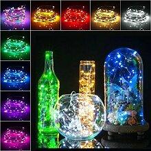Teaio Lichterkette 20 LEDs Flaschen-Lichterkette