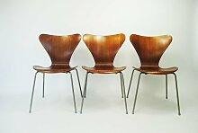 Teak 7-Series Stuhl von Arne Jacobsen für Fritz