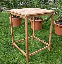 TEAK Bartisch Bistrotisch Stehtisch 80x80cm Holztisch Gartentisch Garten Tisch Holz Modell: BIMA-80x80 von AS-S