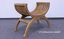 Teak Garten HOCKER ROM Teakholz antik massiv Stuhl