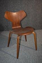 Teak Grand Prix 4130 Stuhl von Arne Jacobsen für