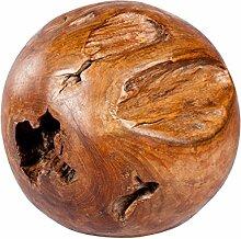 Teak Kugel massiv Ø30cm Unikat Holzkugel Dekokugel Gartenkugel Gartendeko