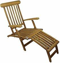 Teakholz Deck Chair mit Armlehne,