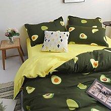 TEALP Bettwäsche-Set, Flamingo-Druck, Doppelbett,