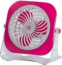 Team-Kalorik-Group USB Ventilator für den Schreibtisch, Ein- / Aus-Schalter, 1 Stück, rosa / weiß, TKG VT 1022 PINK