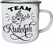 Team Rudolph Retro, Zinn, Emaille 10oz/280ml