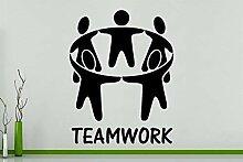 Teamarbeit Motivation Business Büro Wandkunst