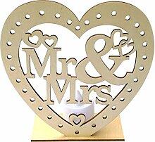 TeasyDay Hölzerne Hochzeit liefert Liebe Mr & Mrs