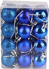 TEBAISE 24 Stück Weihnachtskugeln Baumschmuck