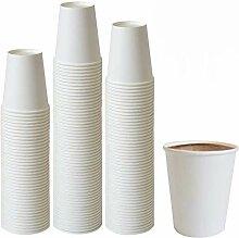 Tebery 300 x 7oz Einwegbecher Kaffeebecher