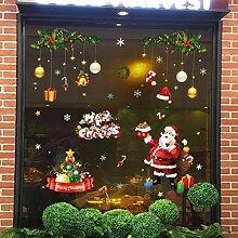 Tebrun Fensterbild Weihnachten Entfernbarer