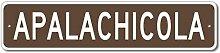 TEcell Apalachicola, Kaffee-Blechschild,