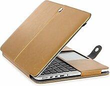 TechCode MacBook Pro 13,3 Zoll Hülle, Premium PU