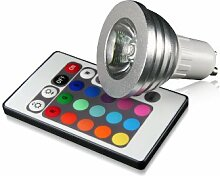 Technaxx RGB LED Lampe GU10 4 Watt, multicolor