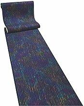 Techno blau Teppichläufer Meterware 60 cm breit Teppich Läufer Brücke Flur in vielen Längen und Breiten lieferbar