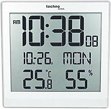 Technoline, WS 8015, Designer Wanduhr, hochglanz weiß, 224 x 23 x 224 mm