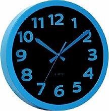 Technoline WT 7420 Moderne, Auffällig Schrille Wanduhr mit Kunststoffrahmen, Ø 25,5 cm, Plastik, Blau, 25,5 x 4 x 25,5 cm