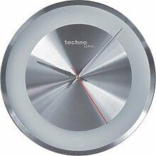 Technoline, WT 7688 Wanduhr, Ø 33cm, Metallrahmen