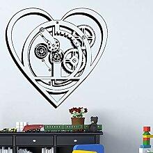 Technologie Herz Wandaufkleber Hintergrund