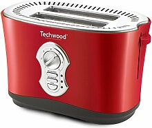 TECHWOOD Grill Brot 2 Schlitze rot, 850