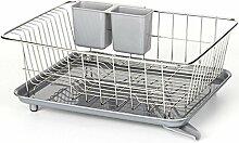 Teckpeak Abtropfgestell Abtropfgitter Küchenregal Geschirr Abtropfkorb Standregal Küchenschrank für Multifunktionale Speicher