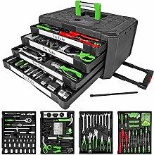 TecTake 300 teiliger Werkzeugkoffer mit 4