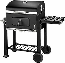 TecTake 402174 - Holzkohlegrill mit Thermometer,